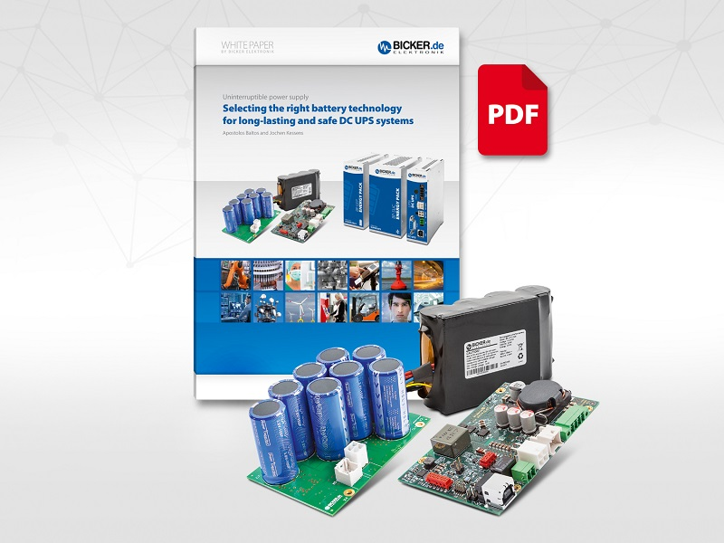 White paper on battery technologies for safe DC UPS systems