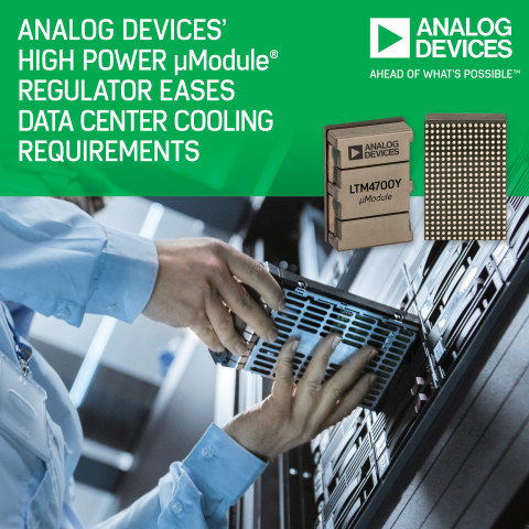ÂμModule Regulator Eases Data Center Cooling Requirements