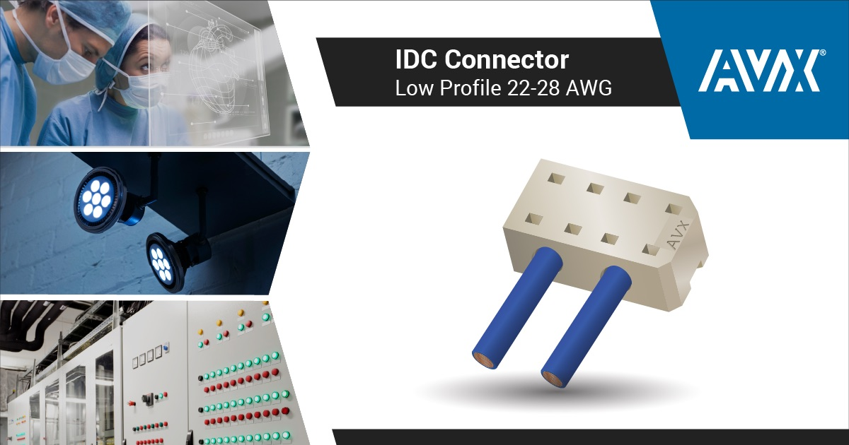 New Insulator to Industry's Only 2.55mm-Profile IDC Series