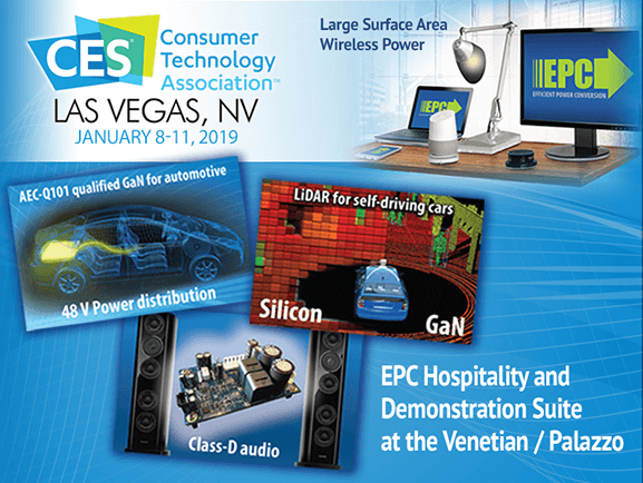 EPC to Display GaN-Enabled Wireless Systems at CES 2019