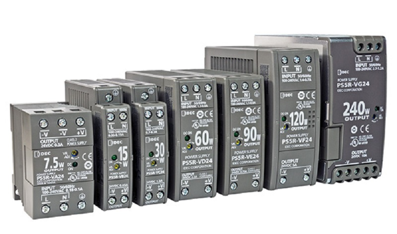 Space-saving DIN-Rail power supplies