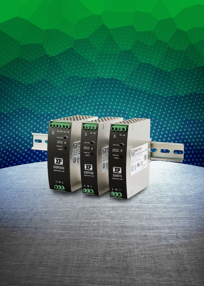 Ultra slim, low cost DIN rail power supplies from XP Power