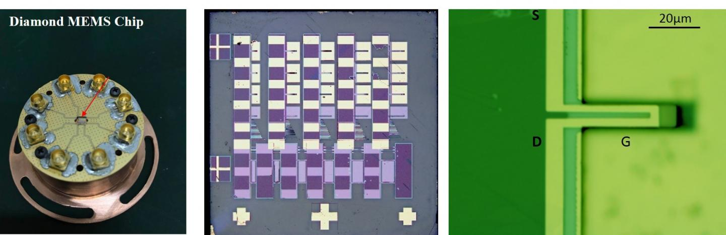 MEMS Sensor Chip with Ultra-High Quality Diamond Cantilevers