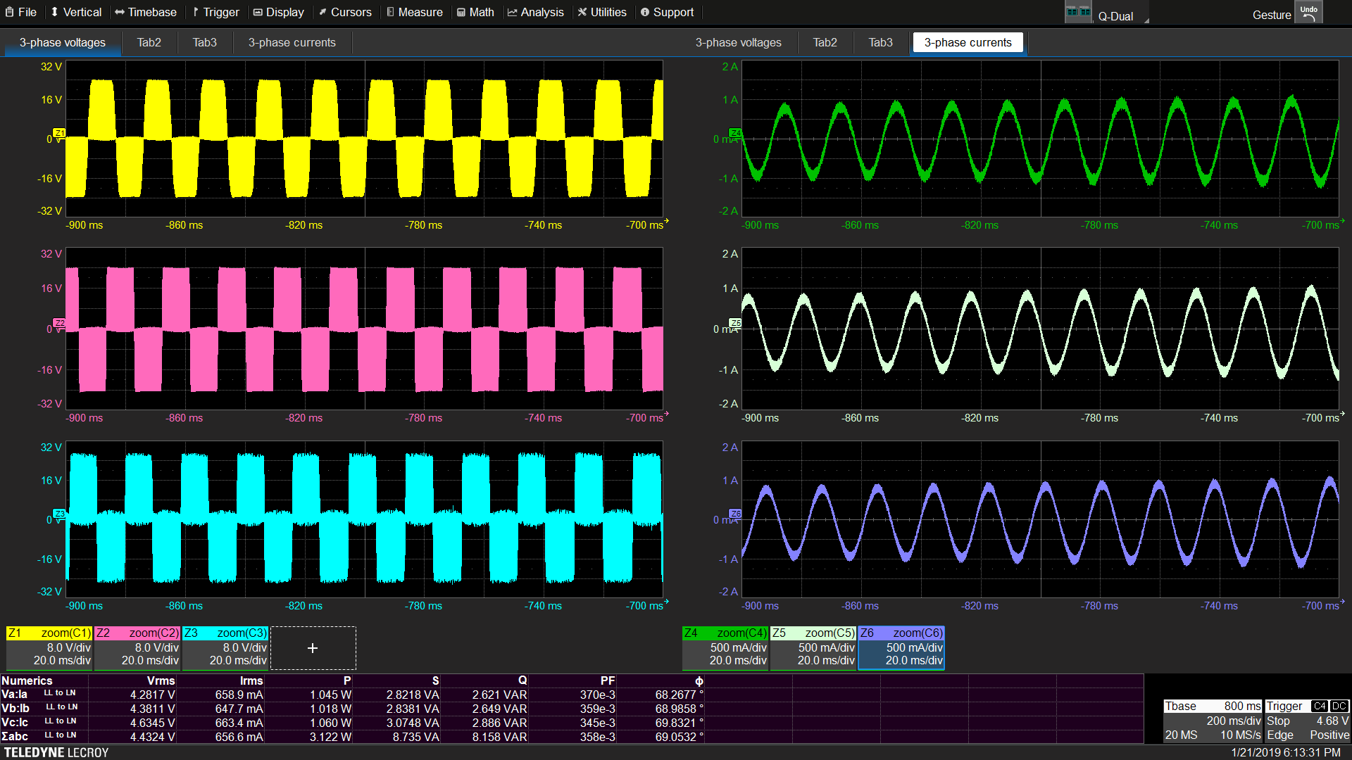 Power Analysis Software for 12-bit HD Oscilloscopes