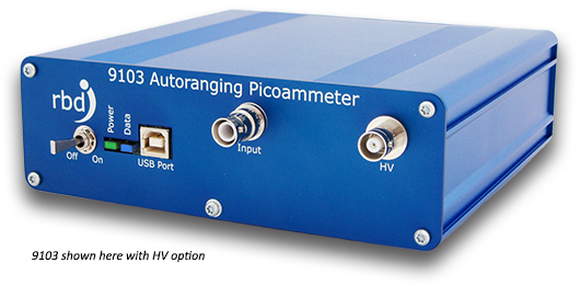 RBD Instruments' New 5kV Version of Its 9103 USB Picoammeter