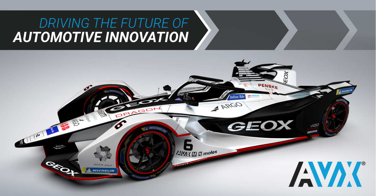 AVX Supports GEOX DRAGON All-Electric Formula-E Racing Team