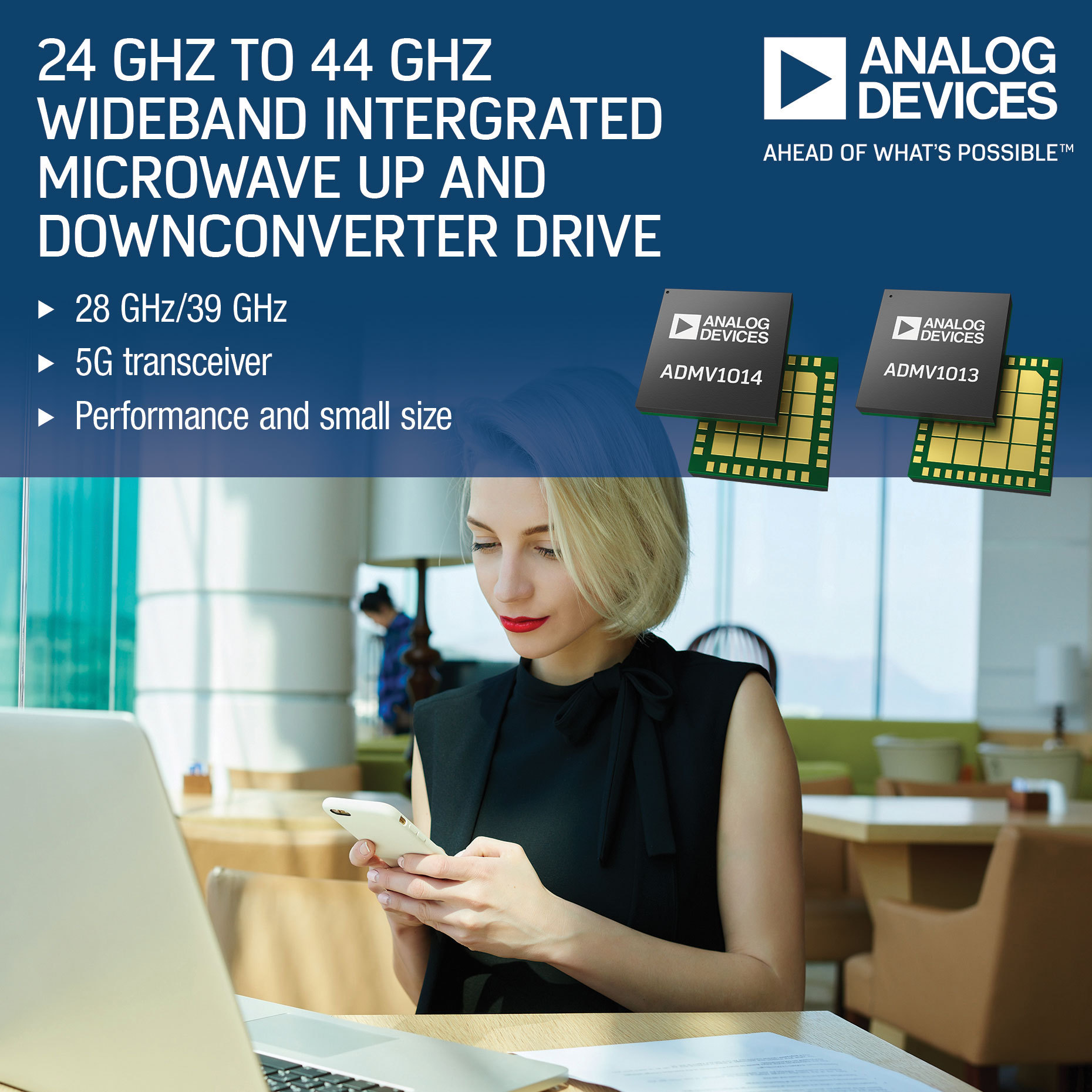 Integrated Microwave Up & Downconverter With Wide Frequency