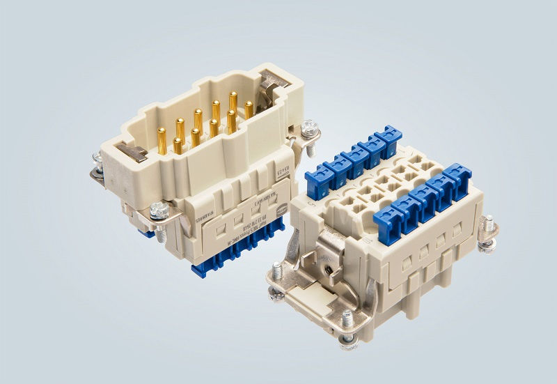 Han ES Press HMC connector range allows fast installation