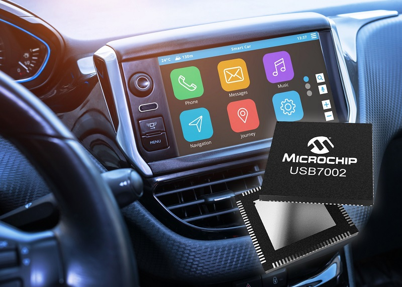 Industry's first automotive USB 3.1 SmartHub supports Type-C