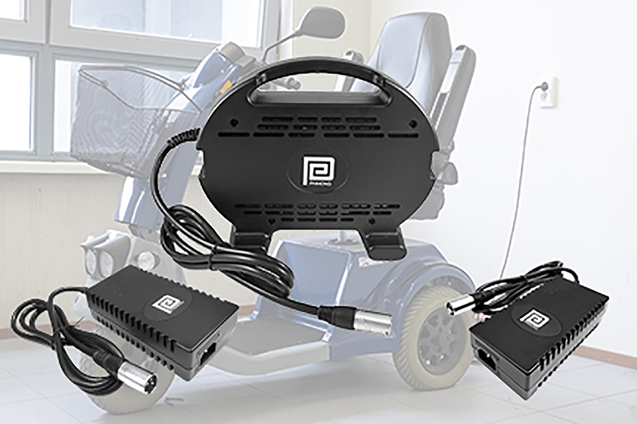 Extended Range Battery Chargers for Mobility Aid Scooters