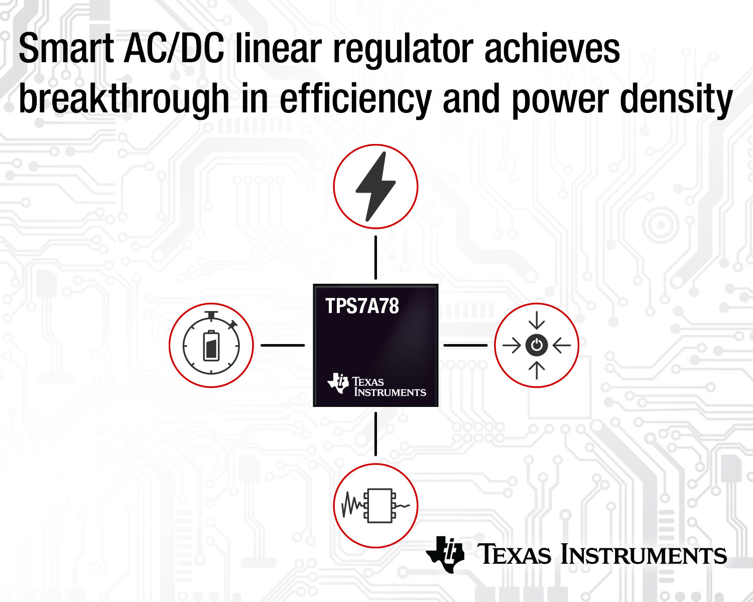 AC/DC Linear Regulator Features 75 Percent Higher Efficiency
