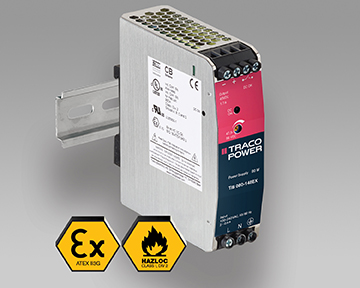 DIN Rail Power Supplies with ATEX & UL HazLoc Certifications