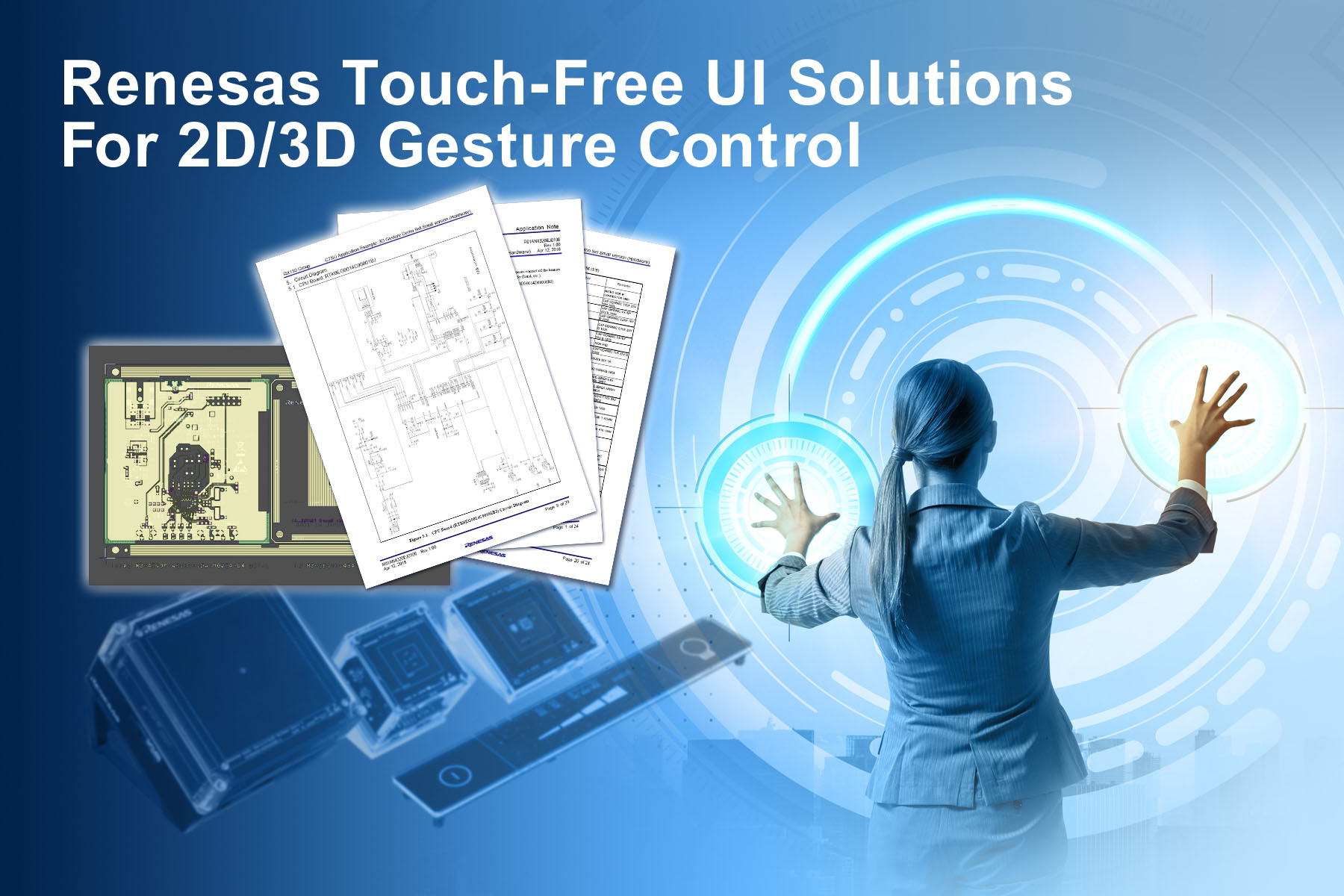 Touch-Free UI Solutions with Capacitive Microcontrollers