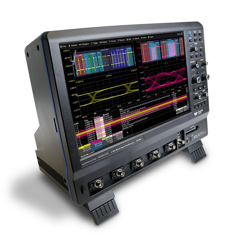 Oscilloscopes with 15.4