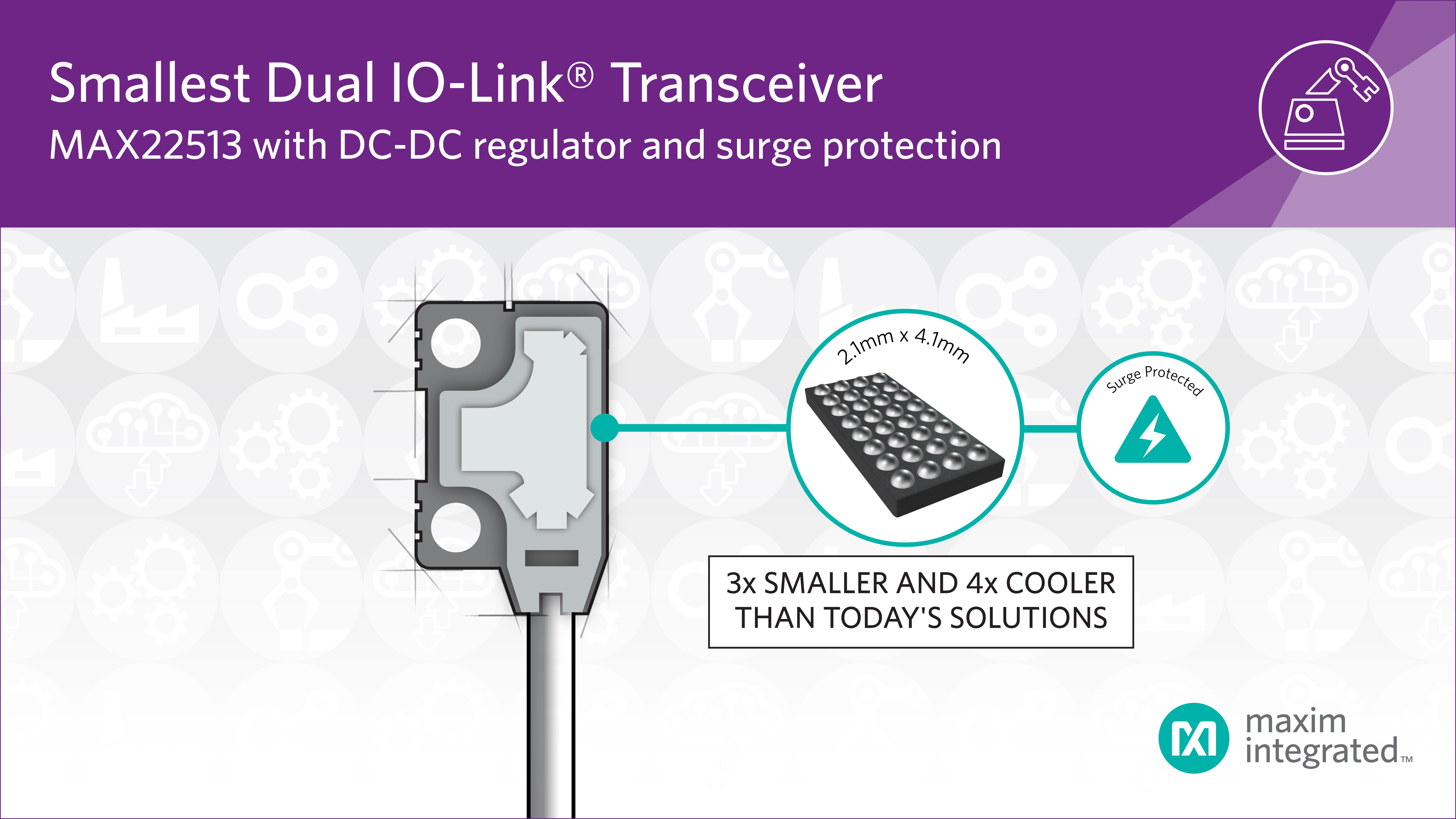 IO-Link Transceiver with Integrated DC-DC Buck Regulator