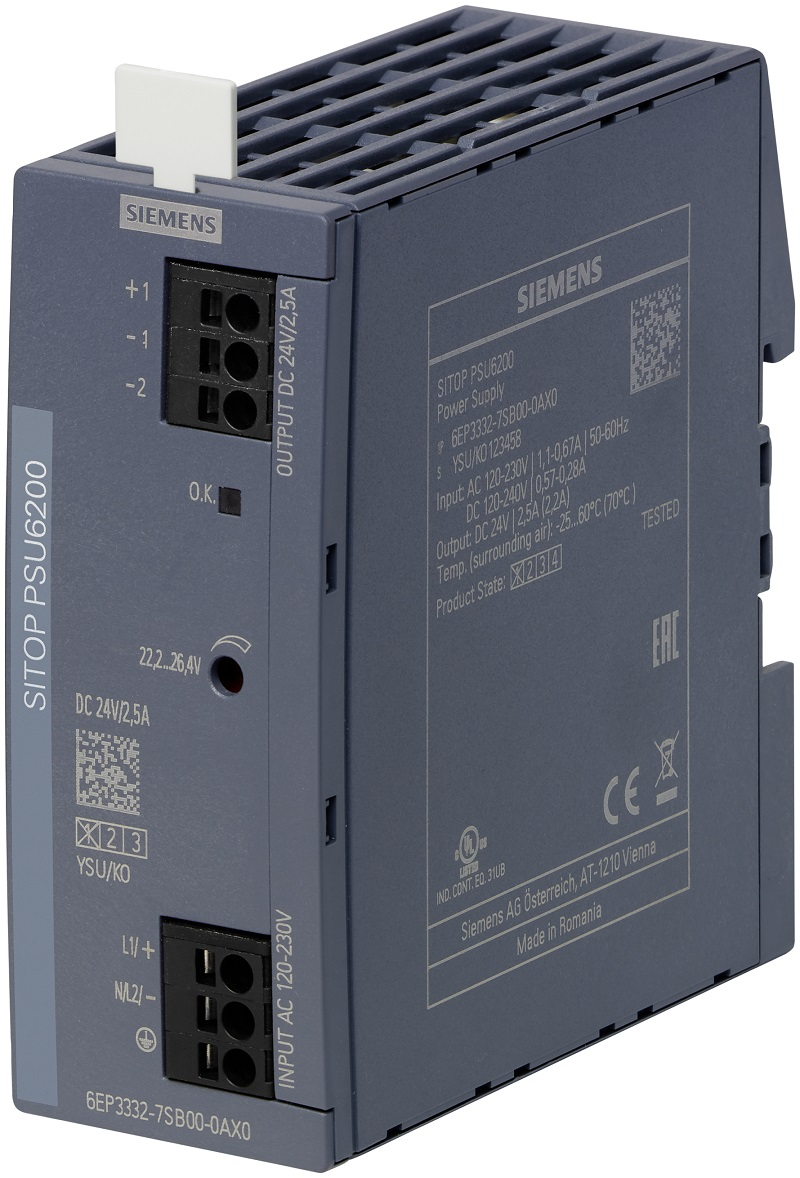 RS Components introduces Siemens DIN rail power supply range
