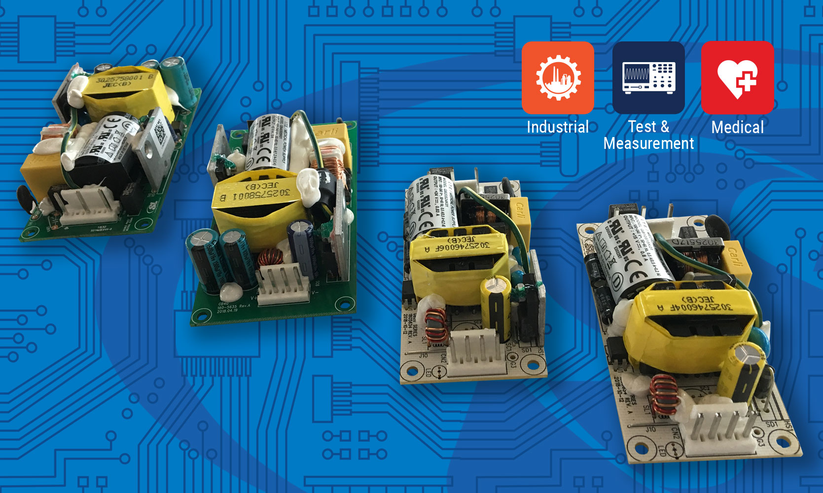 SL Power's Four New Families of Open Frame Power Supplies