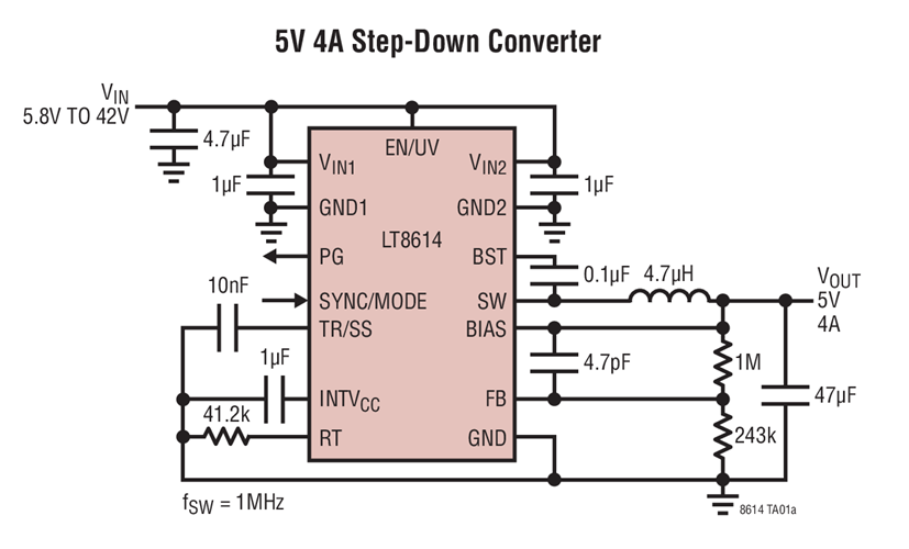 5�A Synchronous Step-Down Device w/ 2.5��A Quiescent�Current