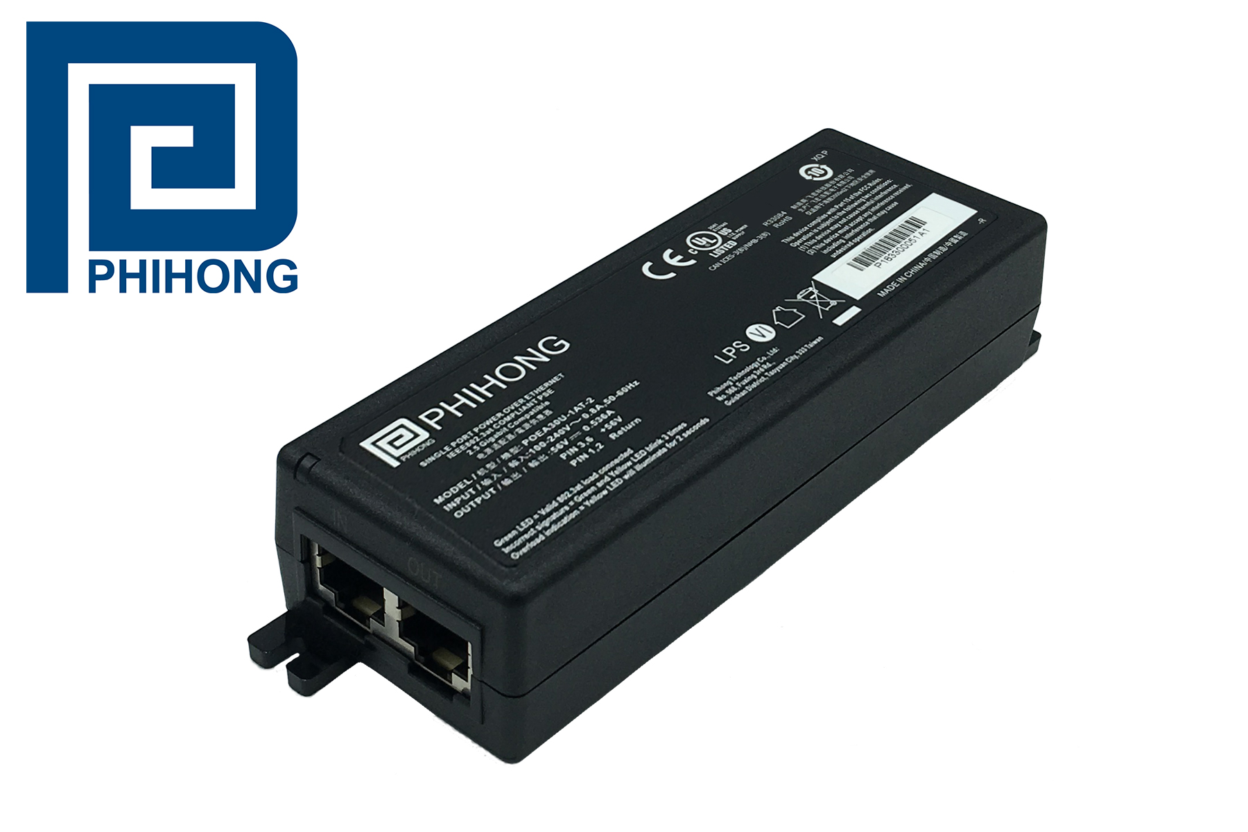 POE Injectors Support 2.5G, 5G and 10G Transmission Rates