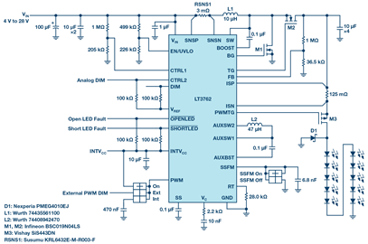 Boost Converter Powers High Current LEDs