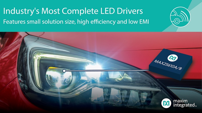 Compact LED Drivers Provide High Efficiency and Low EMI