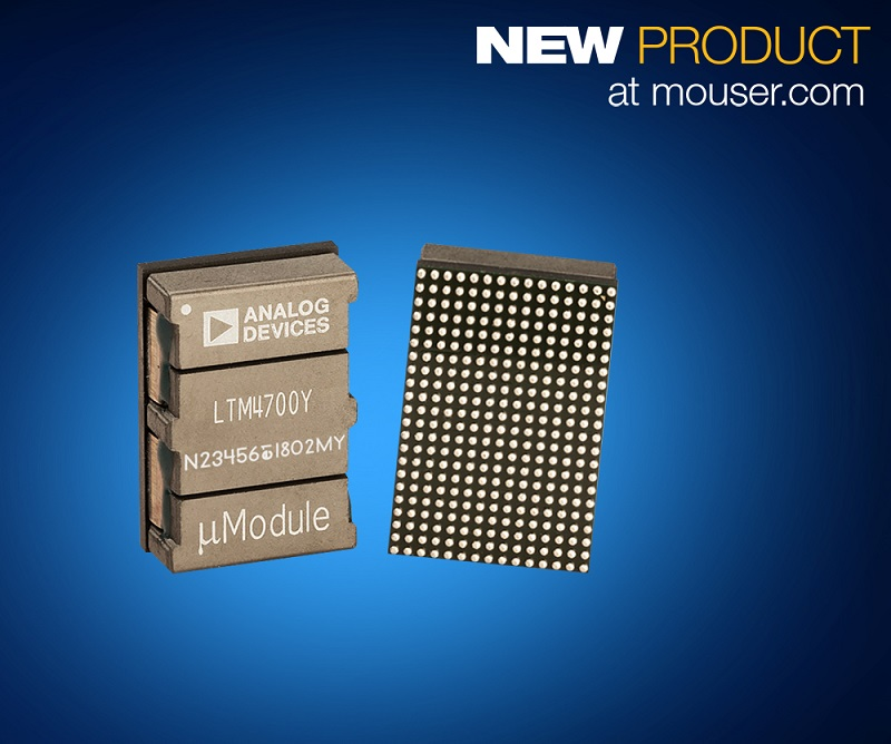 Mouser adds Analog Devices Power by Linear LTM7400 Regulator