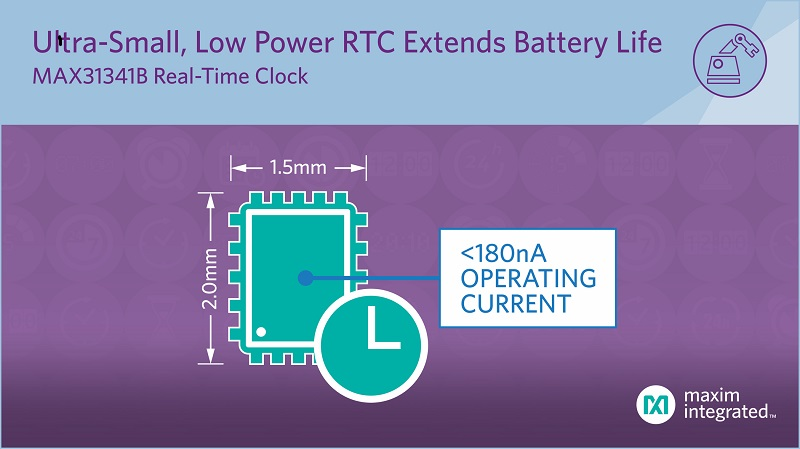 nanoPower RTC Offers Small Package and Long Battery Life