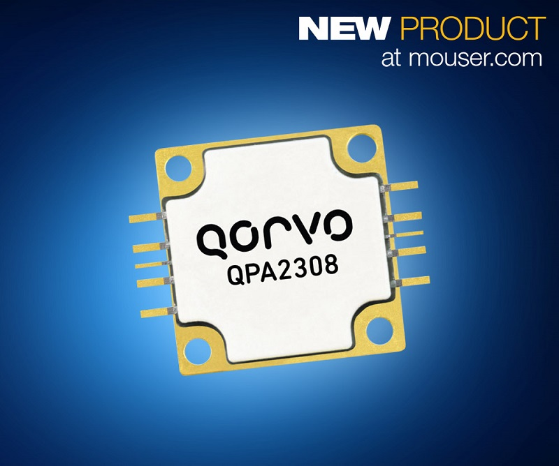 Mouser Stocking the Qorvo QPA2308 60W GaN Power Amplifier
