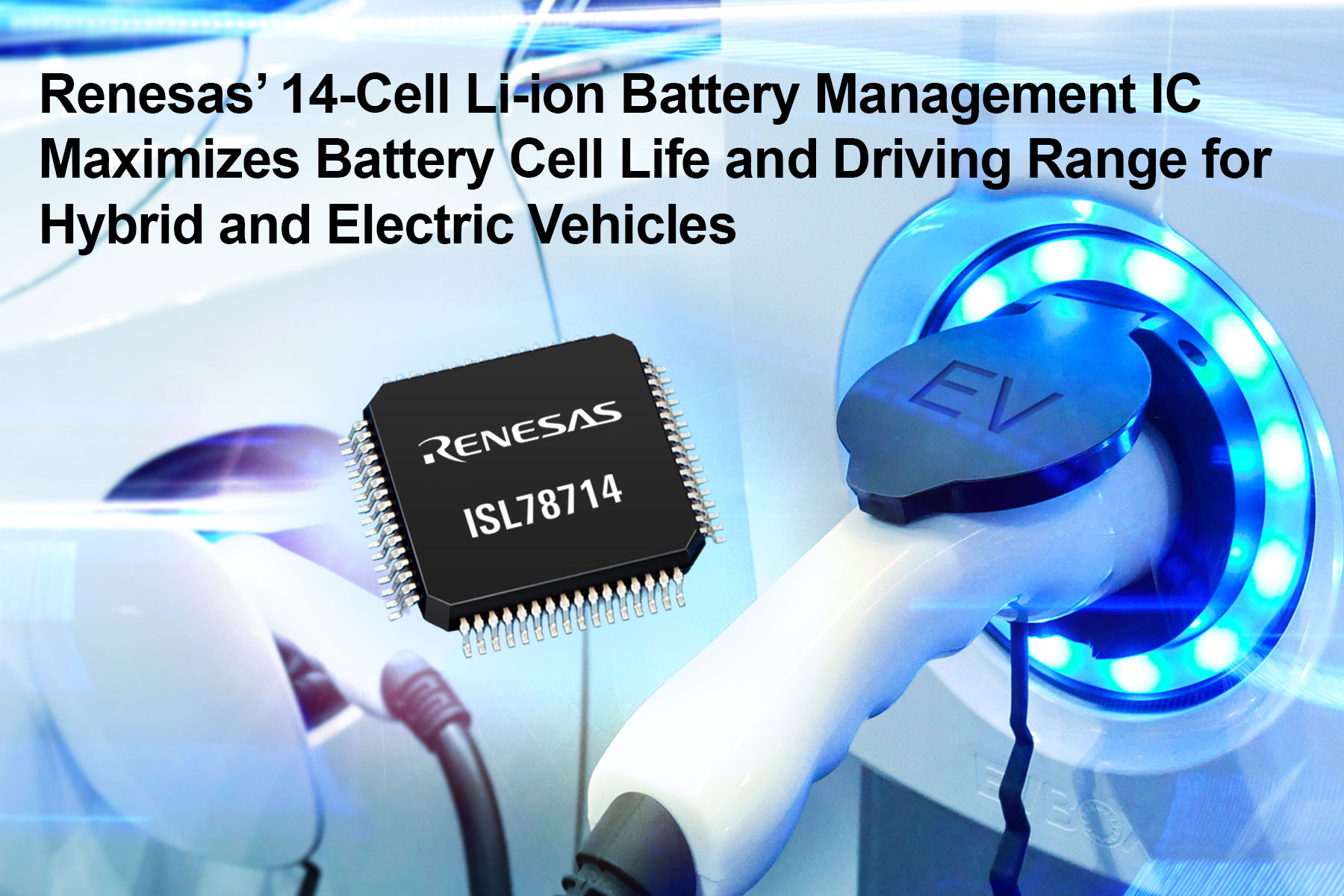 Battery Management IC Maximizes Driving Range for EVs