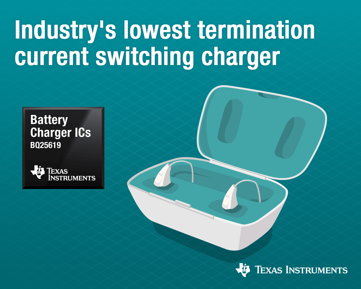Battery Charger with Industry's Lowest Termination Current