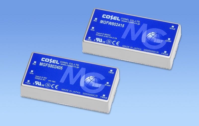 High reliability 80W DC/DC converter with 10 year warranty
