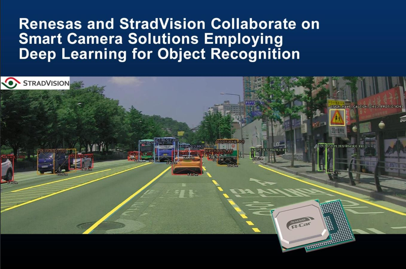 Renesas, StradVision Cooperate on Smart Camera Development