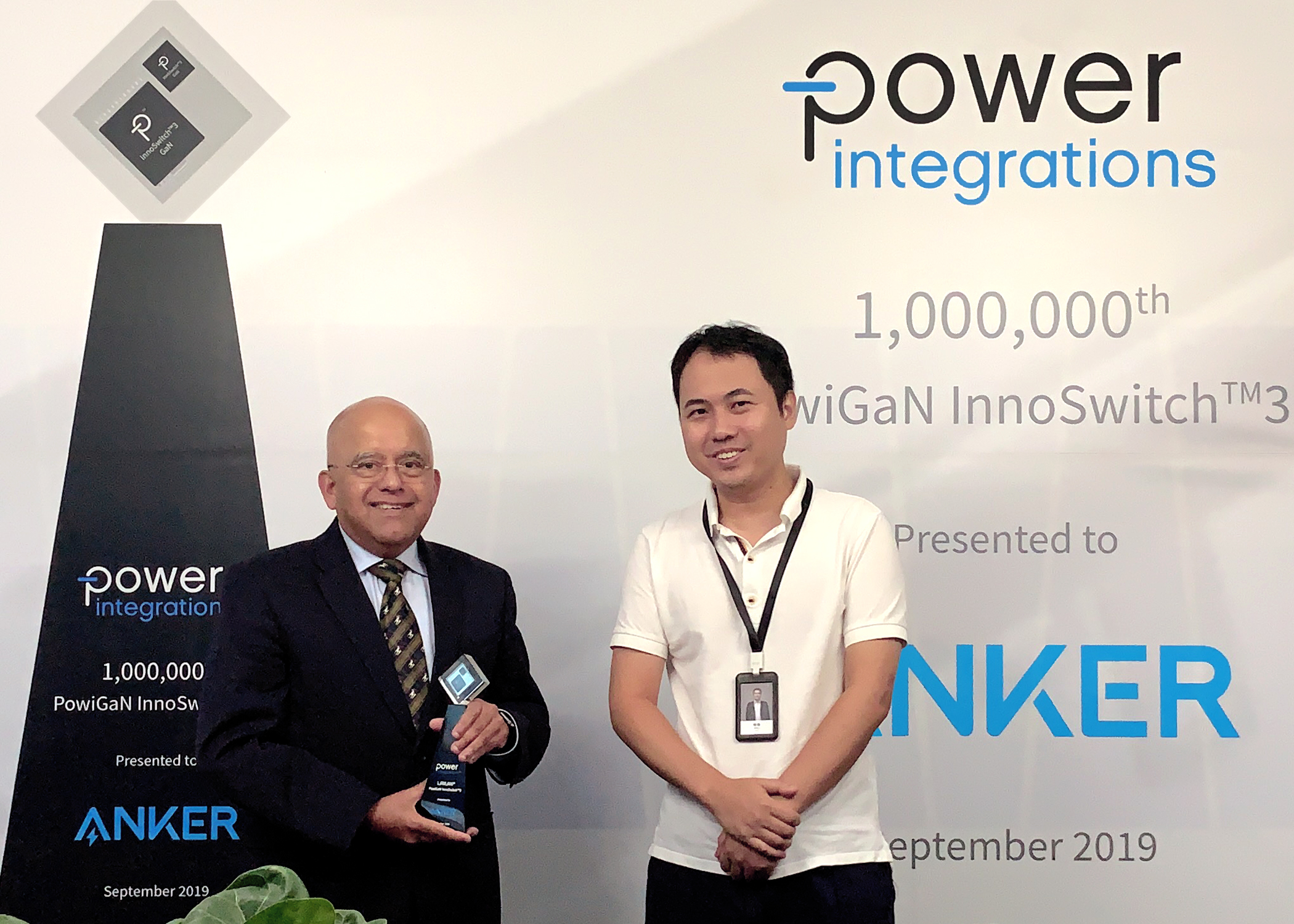 Power Integrations Delivers One-Millionth InnoSwitch3 IC