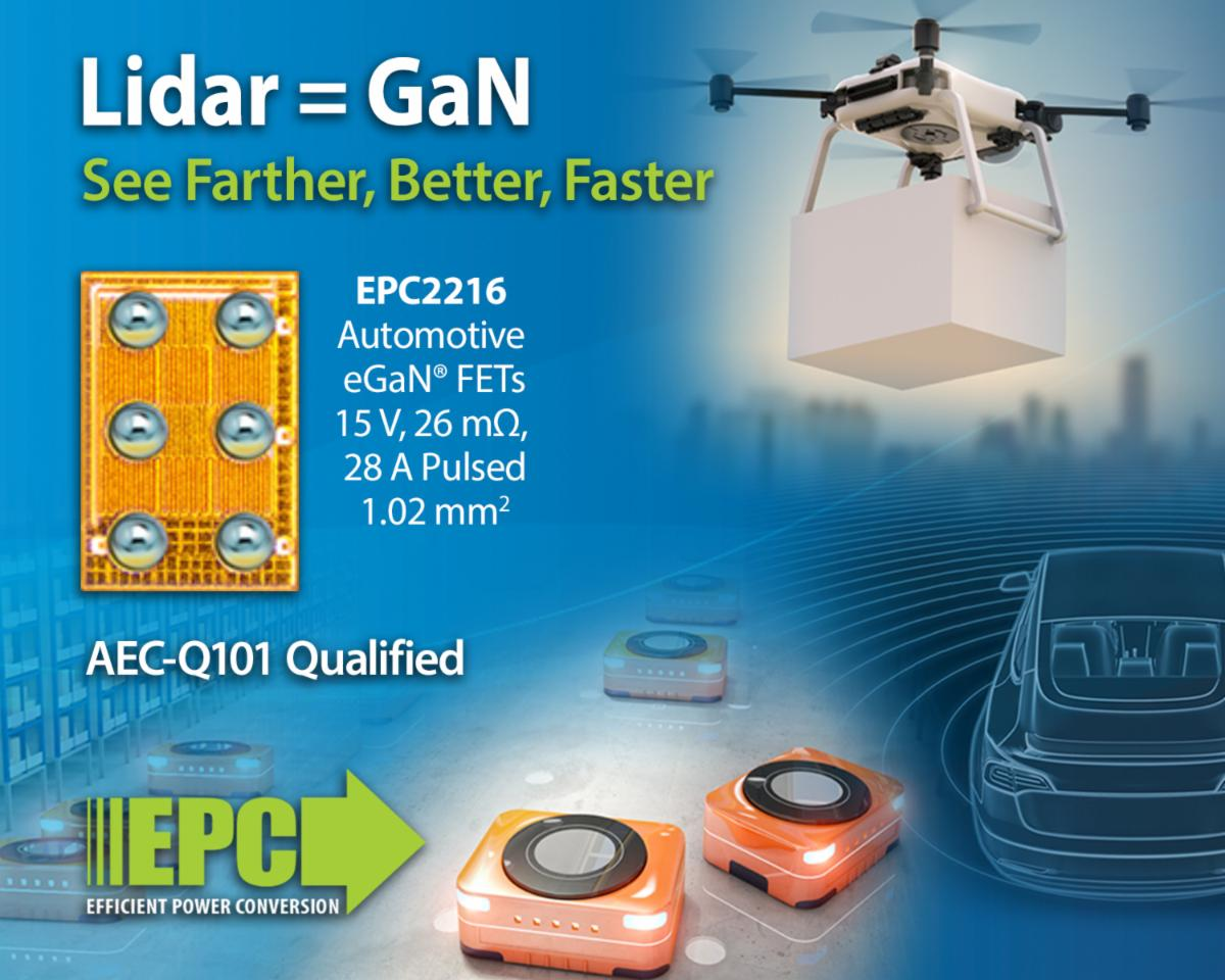 eGaN FET Helps Time-of-Flight Lidar Systems 'See' Better