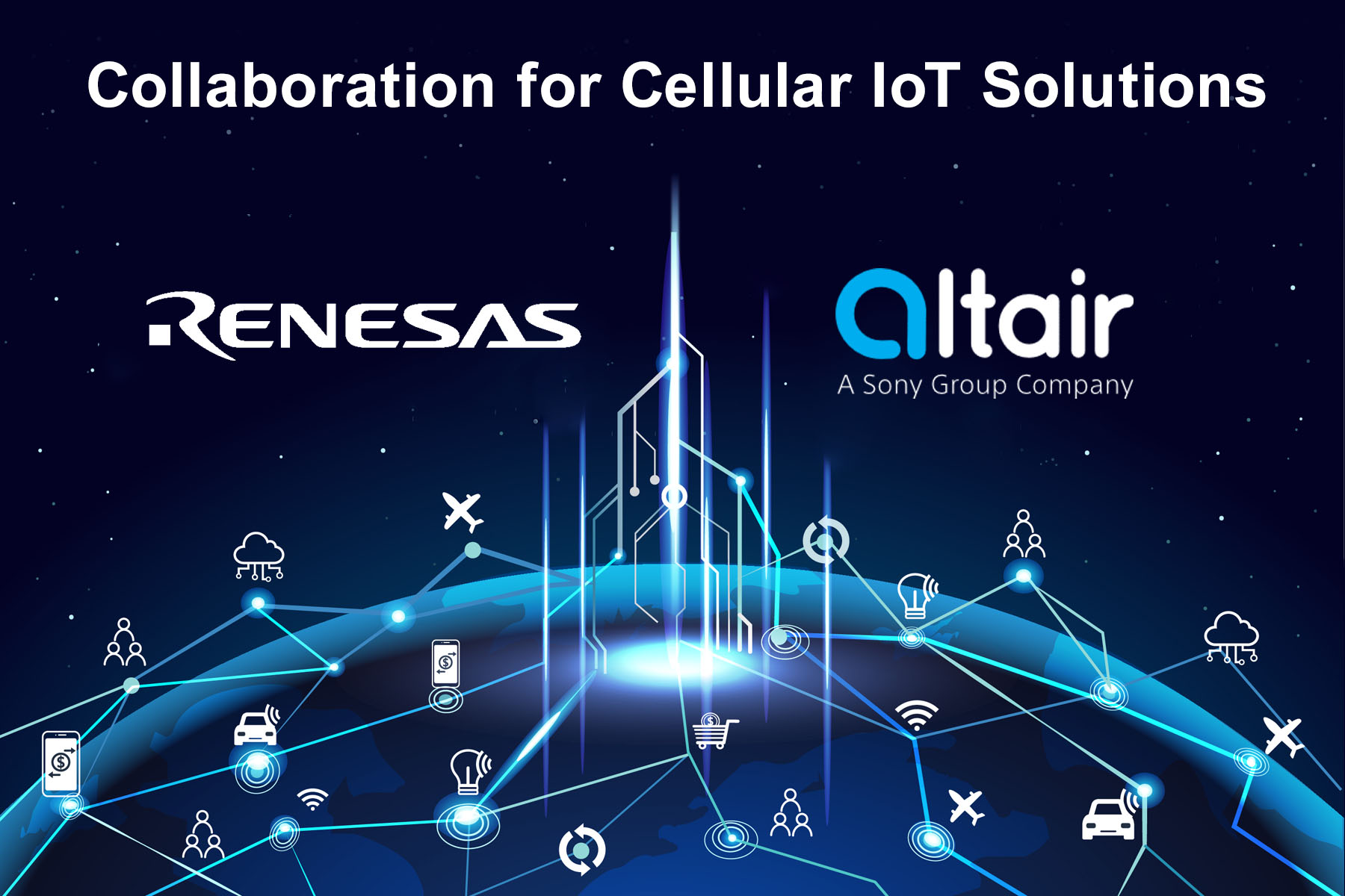Renesas, Altair Semiconductor Collaborate for Cellular IoT