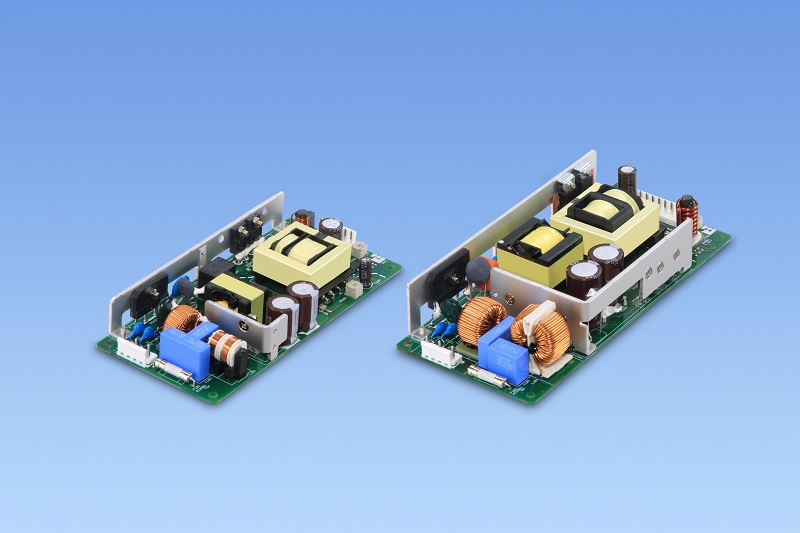 Low profile open frame OVC III certified power supplies