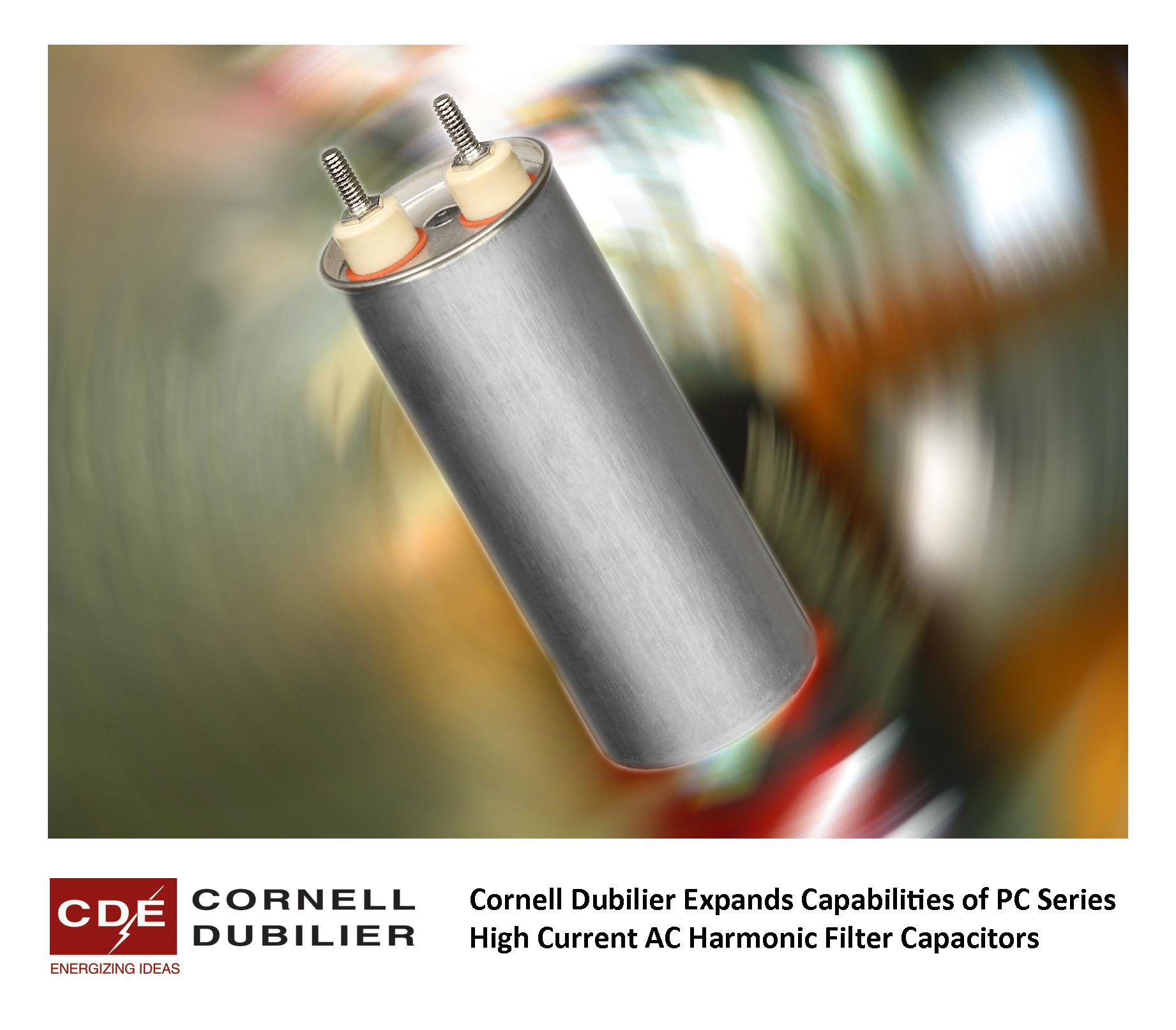 AC Harmonic Filter Capacitors Offer 85 Ampere RMS Ratings