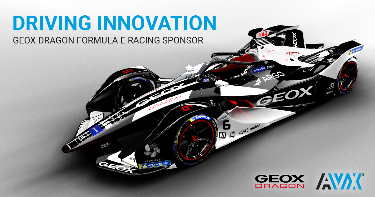 AVX Sponsors GEOX DRAGON All-Electric Formula-E Team
