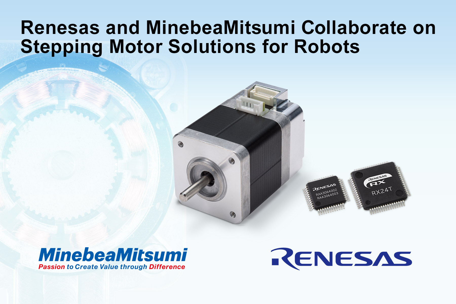 Renesas and Minebea Mitsumi Collaborate on Stepping Motors