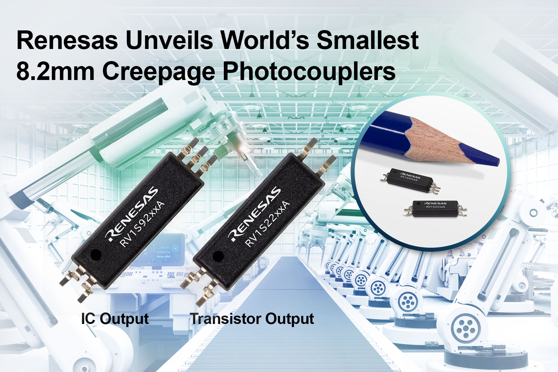 World's Smallest Photocouplers for Industrial and Solar