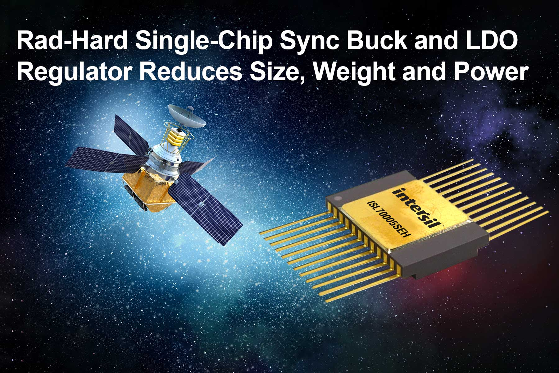 Buck, Low Dropout Regulator for Satellite Power Applications