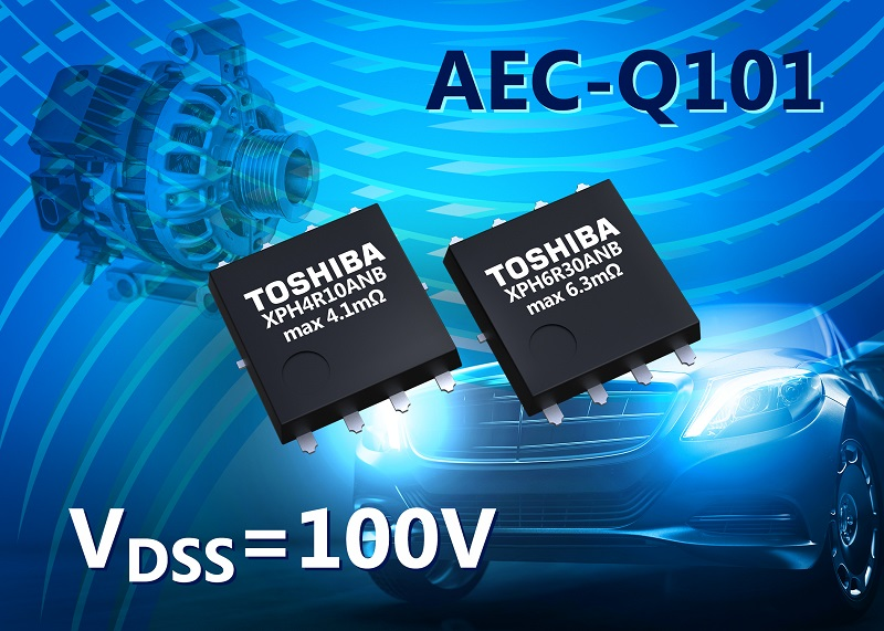 Toshiba announces 100 V N-channel automotive MOSFETs