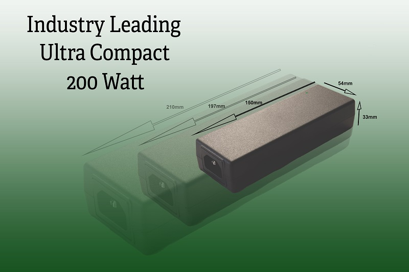 Ultra-compact 200W desktop power supply has GaN switching