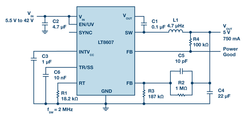 Synchronous Step-Down Regulators w/ 2.5 µA Quiescent Current