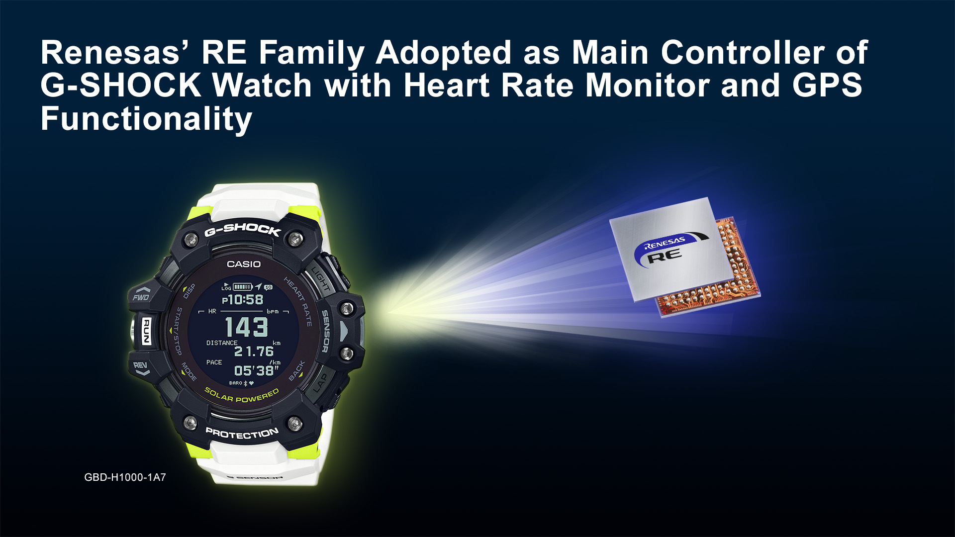 Renesas RE Family Chosen as Main Controller of G-SHOCK Watch