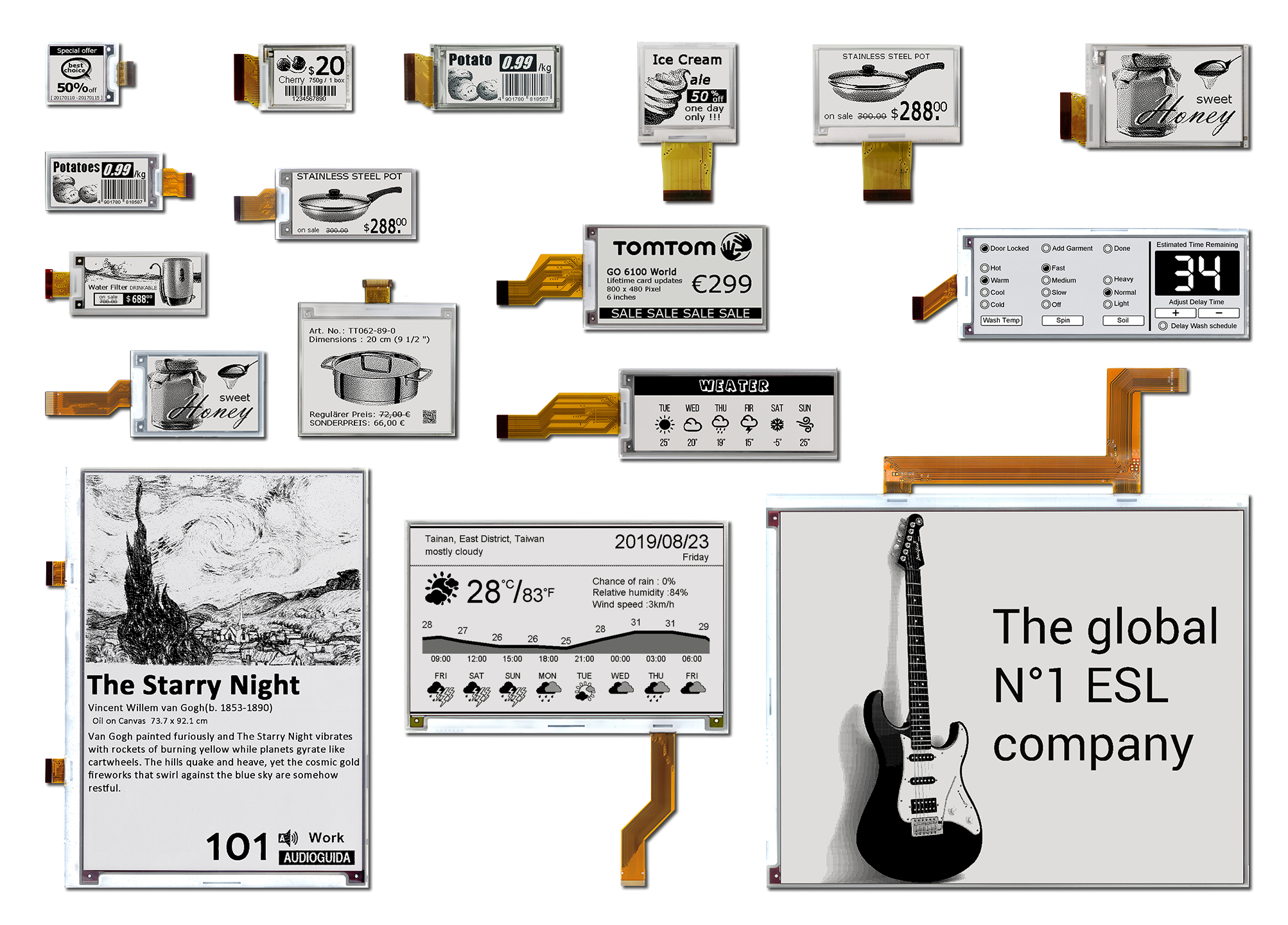 Company Offers Range of Black and White E-Paper Displays