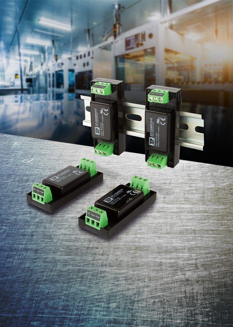 New 15W and 20W chassis / DIN rail mount DC-DC converters