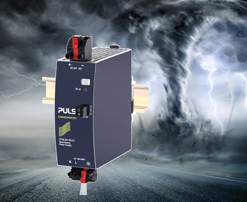 PULS DIN-Rail Power Supplies with built-in redundancy