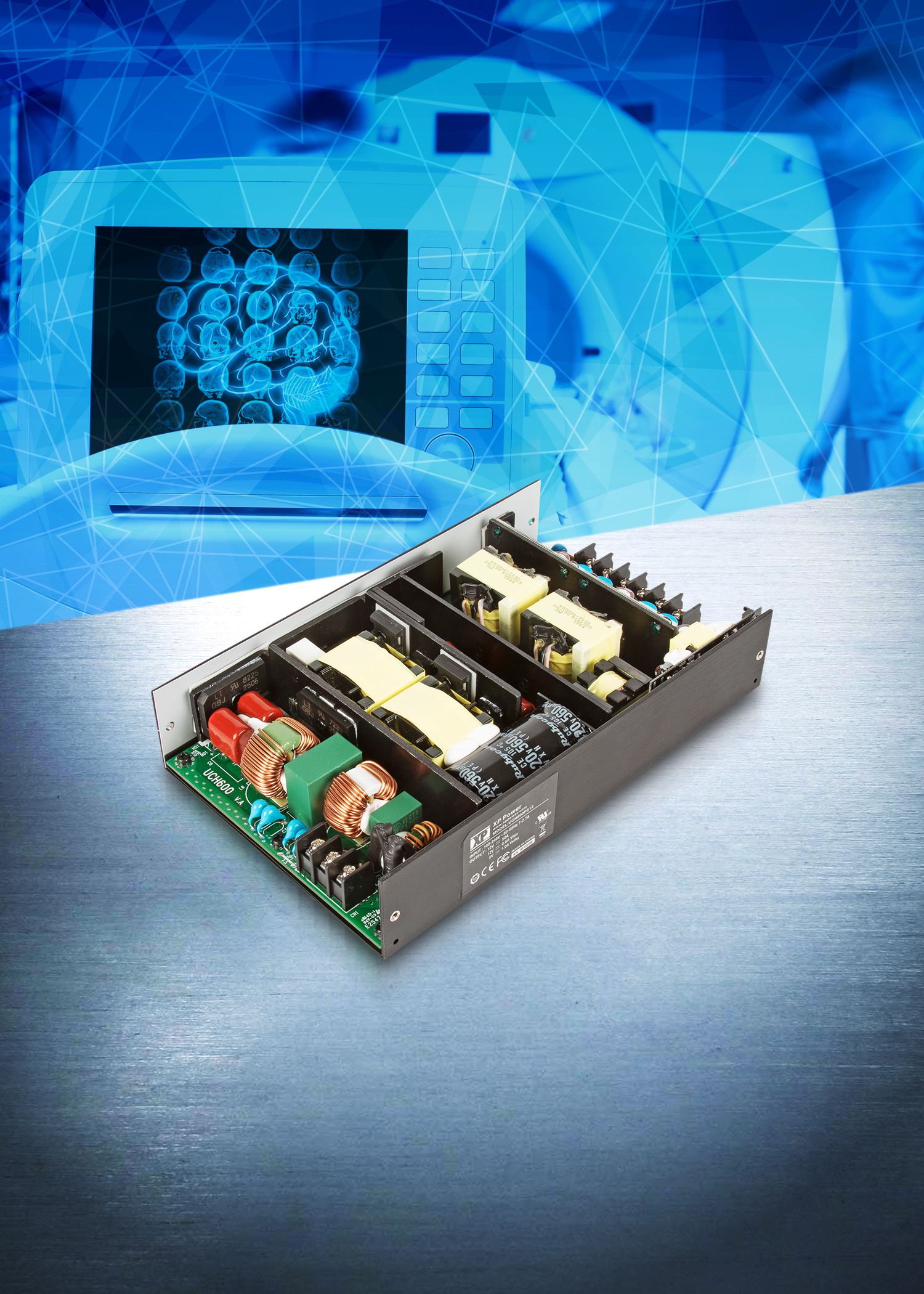 600W Fanless AC-DC Power Supply for Medical Applications
