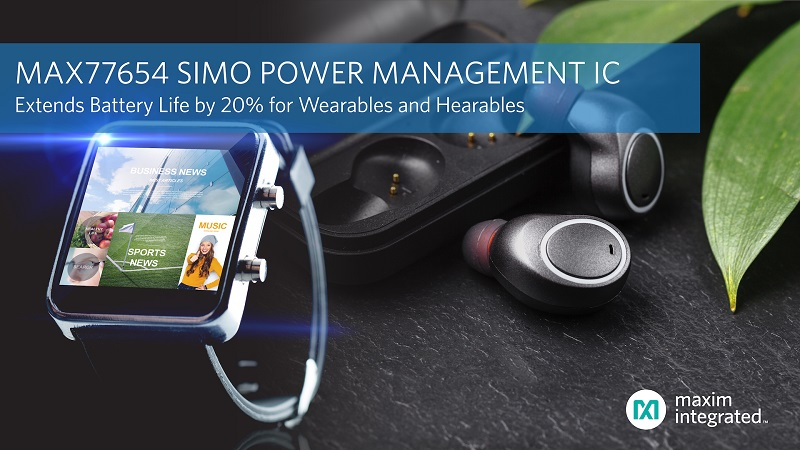 SIMO Power Management IC Cuts Solution Size by Half